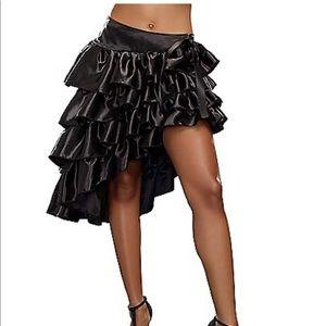 Black Ruffled Senorita skirt Spirit Halloween
